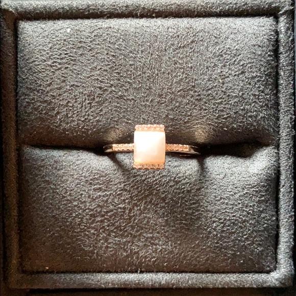 Melanie Auld Rectangular Moonstone Ring